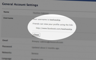 how to change facebook timeline username