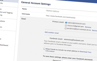 How to add another email on Facebook