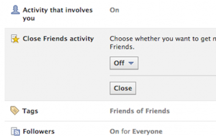 Close Friend Activity: How to Stop Getting Notifications (2013 Timeline)