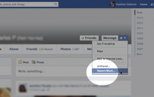 how to report a profile on facebook