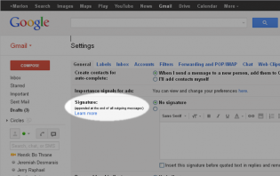 how to make your gmail signature appear