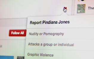 Reporting a Person on Pinterest