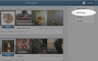 how to follow someone on instagram on computer