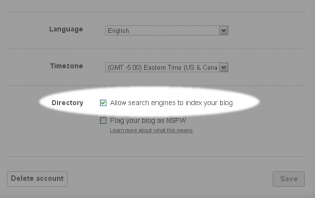 tumblr: how to keep your tumblr blog from showing up on search engines