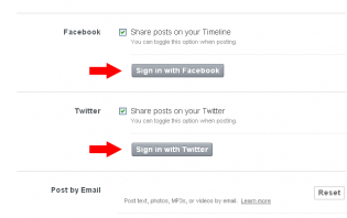 tumblr: how to link facebook and twitter to tumblr