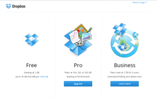 payments and billing in dropbox