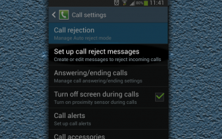 How to set reject messages in Samsung Galaxy S3