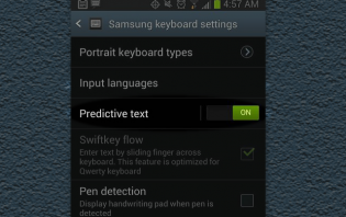 how to stop auto-spell on samsung galaxy s3