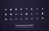 quality sets of flat social media icons