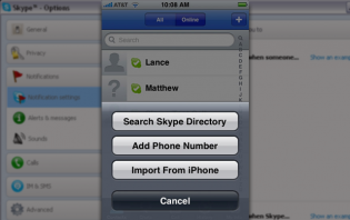 how to import skype contacts to an android phone