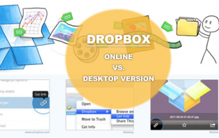 differentiating dropbox online from its desktop version