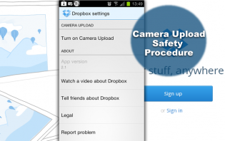 dropbox safety procedures for camera uploads