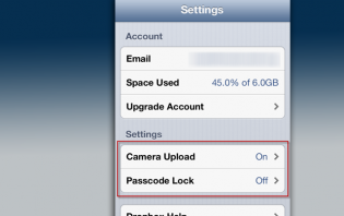 how to add a passcode on dropbox for iphone