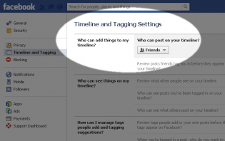 preventing people from writing on your facebook wall