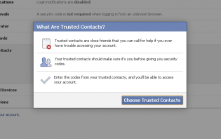 about trusted contacts on facebook