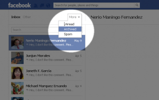 how to archive a conversation on facebook