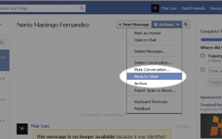 how to move message to other folder on facebook