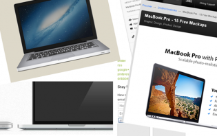 5 macbook pro mockups and psds for your projects