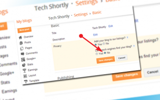 how to hide your blogger site from search engines