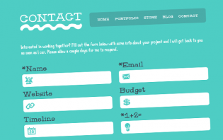 15 captivating examples of contact form designs