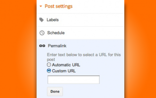 adding custom permalink on a post on blogger