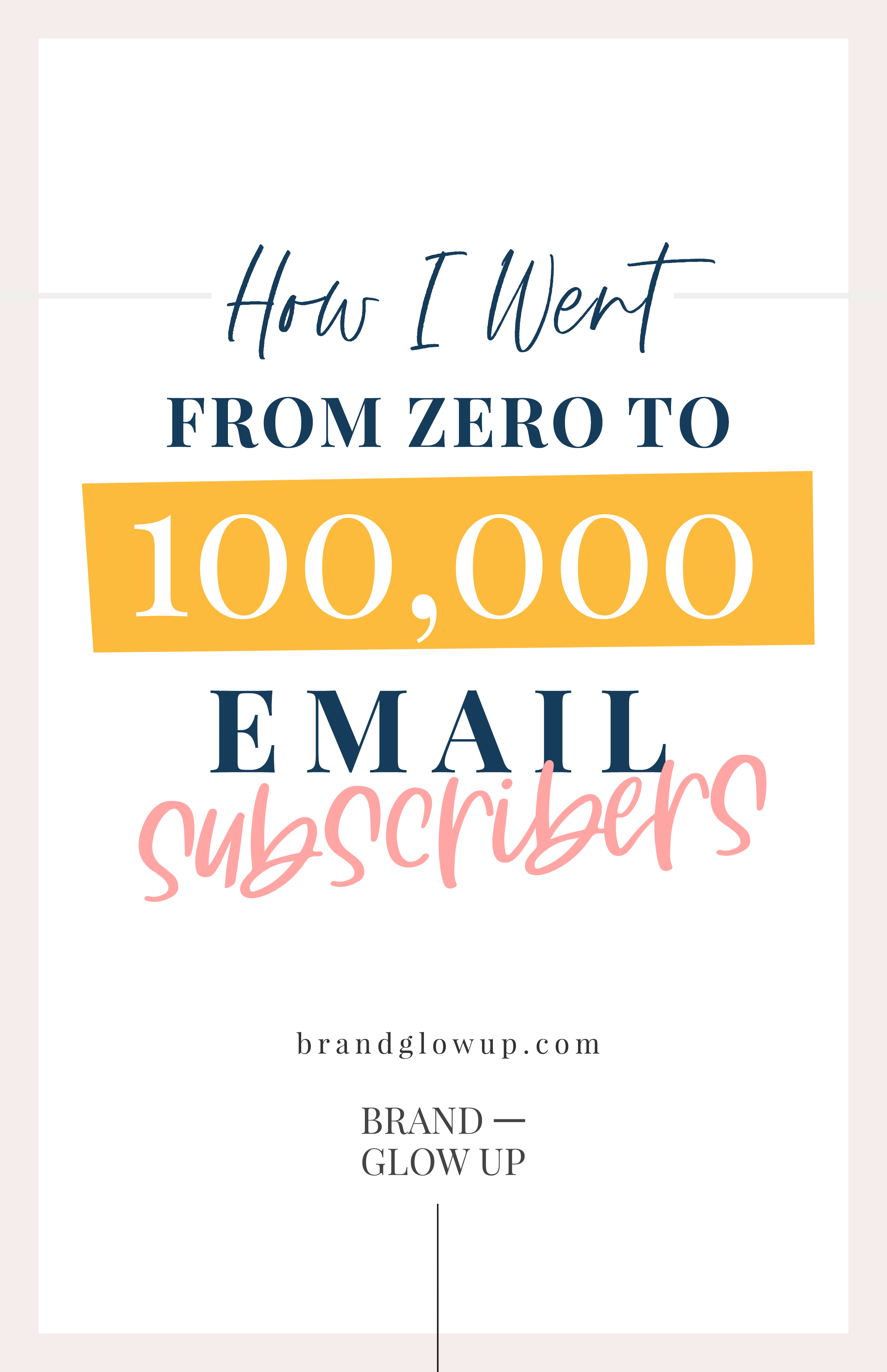 How I Went From Zero To 100K Subscribers FAST