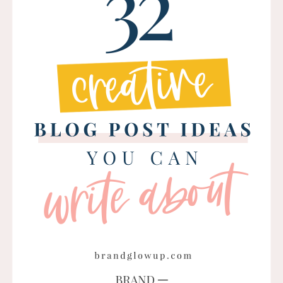 32 Creative Types Of Blog Posts You Can Write About