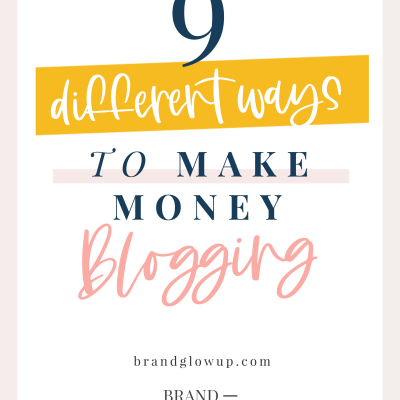 9 Different Ways To Make Money Blogging