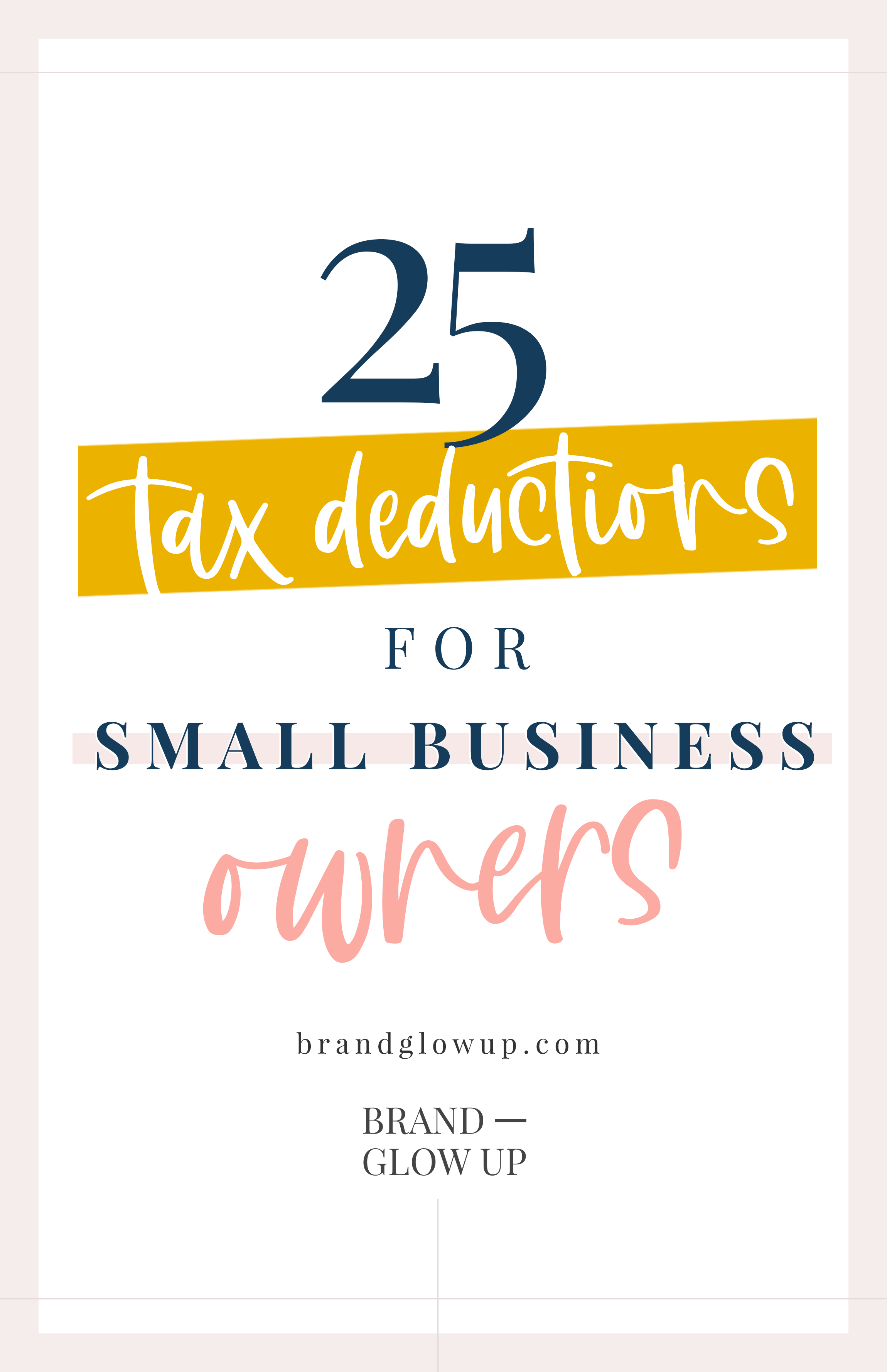 25 Small Tax Deductions for Small Business Owners