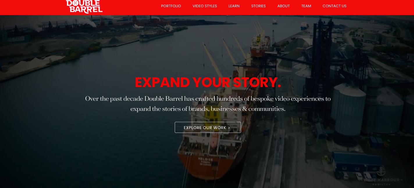 Double Barrel Studios Website for Branding and Web Design