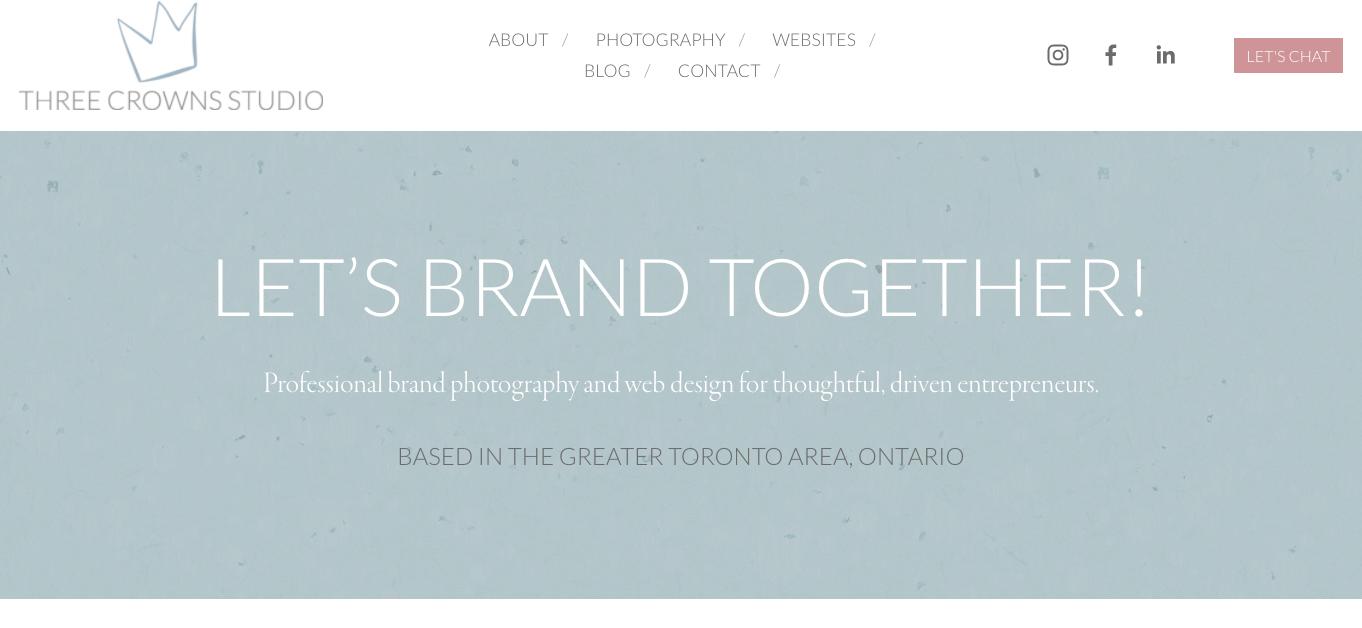 Three Crowns Studio Website