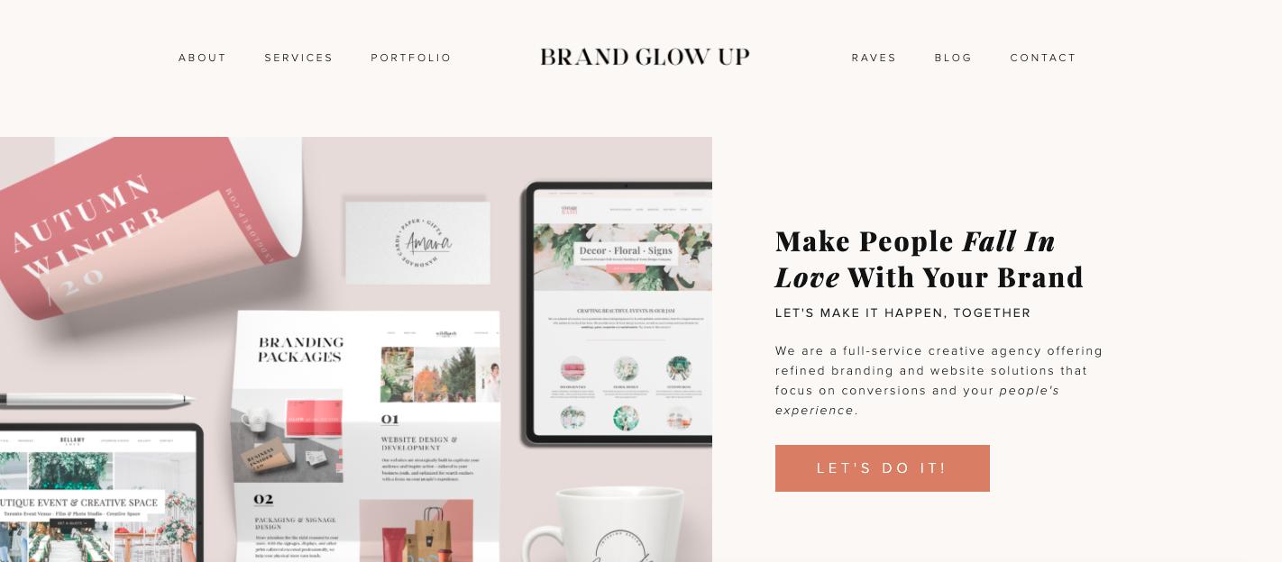 Brand Glow Up Website Design