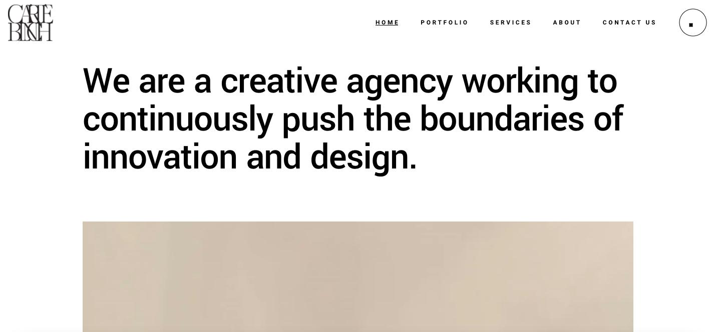 Carte Blanche Studio Website