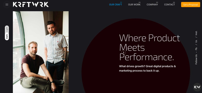KrftWrk Website for Marketing