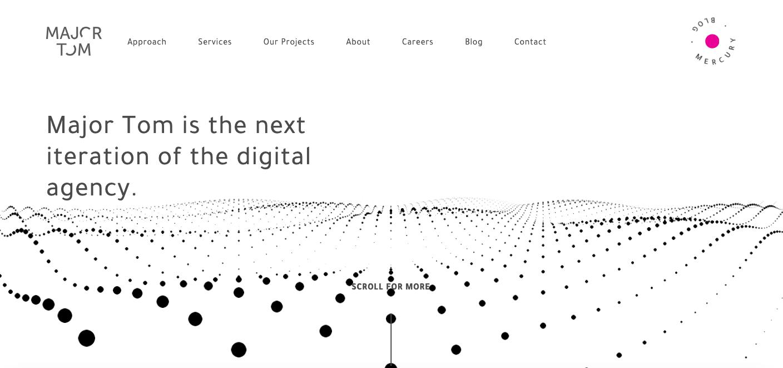 Major Tom for Web Design