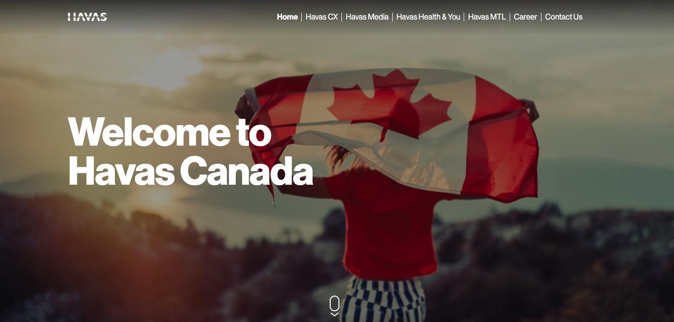 Havas Canada Website