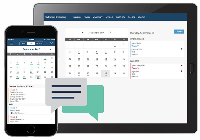 workforce scheduling app